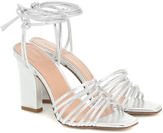 AEYDĒ Daisy metallic-leather sandals