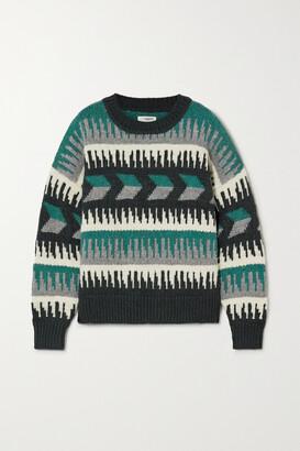 Isabel Marant Etoile - Sienna Intarsia Wool-blend Sweater - Green