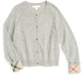 Burberry 'Gema' Cashmere Cardigan (Little Girls & Big Girls)