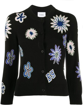 Barrie knitted floral cardigan