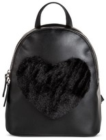 T-Shirt & Jeans Women's Backpack with Fur Heart