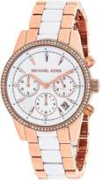 Michael Kors Ritz MK6324 Women's Two-Tone Chronograph Watch with Crystal Accents