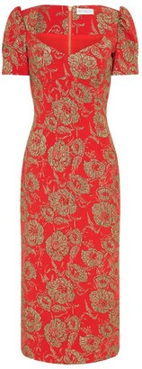 Rebecca Vallance Amaretto Puff-Sleeve Sheath Dress