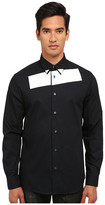 McQ by Alexander McQueen Stipe Long Sleeve Tux Button Up