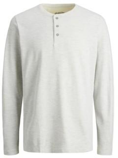 Jack and Jones Men's Long Sleeve Henley Tee Shirt