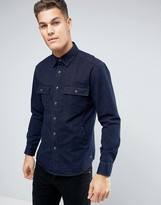 Esprit Overshirt In Regular Fit Denim