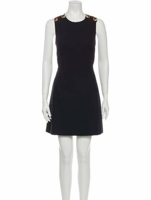 Dolce & Gabbana Crew Neck Mini Dress Black