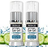 Anti Wrinkle Eye Cream - 2 Pack Eye Gel Treatment for Wrinkles, Puffy Eyes & Dark Circles Under Eyes | Peptides + Hyaluronic Acid + Cucumber + Amino Acids