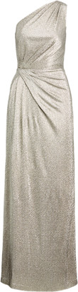 Ralph Lauren Metallic One-Shoulder Gown