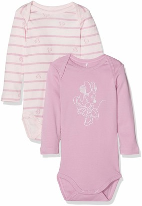 Name It Baby Girls' Nbfminnie 2p Cila Ls Body Wdi Footies