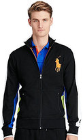 Polo Ralph Lauren Cotton Interlock Color Block Mockneck Track Jacket