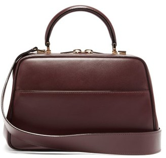 Valextra Serie S Medium Smooth-leather Shoulder Bag - Burgundy