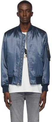 Rag & Bone Blue B15 Manston Bomber Jacket