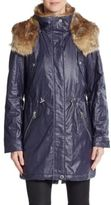 Andrew Marc Lauren Faux Fur-Trimmed Coated Jacket