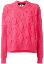 Junya Watanabe Comme Des Garçons - ribbed jumper - women - Wool - S