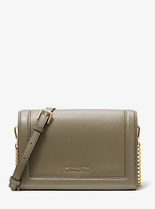Michael Kors Jet Set Large Crossgrain Leather Crossbody Bag