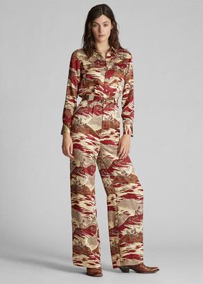 Ralph Lauren Western Silk Jumpsuit