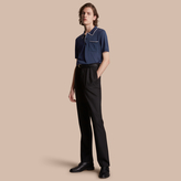 Burberry Tipped Detail Knitted Silk Polo Shirt