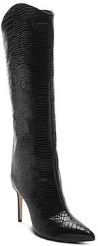 Schutz Women's Maryana Snake-Embossed High-Heel Boots
