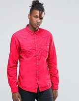 Wrangler Western Heritage Shirt Red