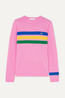 Bella Freud Daytona Sparkle Metallic Striped Cashmere-blend Sweater - Pink