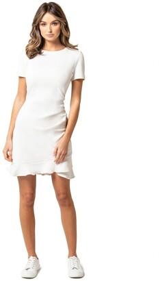 Forever New Annie Rib Short Sleeve Frill Dress
