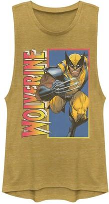 Junior's Marvel X-Men Classic Wolverine Portrait Muscle Tank Top