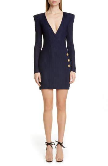635c7263 Balmain Wrap Dresses - ShopStyle