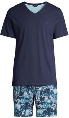 Hom 2-Piece Safari Short Sleeve Pajama Set