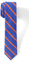 Classic Boys Textured Stripe Necktie-Indigo Paisley