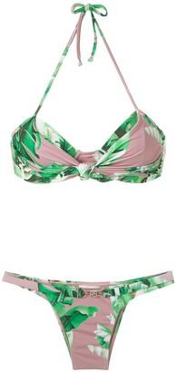 AMIR SLAMA floral print bikini set