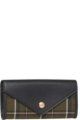 Burberry Halton Tartan Wool Continental Flap Wallet