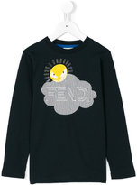 Fendi sun print T-shirt - kids - Cotton - 3 yrs