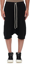 Rick Owens Men's Fleece Drop-Rise Shorts-BLACK