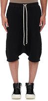 Rick Owens Men's Fleece Drop-Rise Shorts