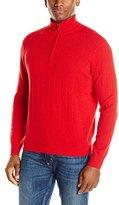 American Icon Men's Quarter Zip 100% Cashmere Drop Needle Sweater