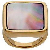 Mother of Pearl QVC Bold Square Mother-of-Pearl Ring 14K Gold