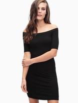 Splendid Rib Off Shoulder Dress