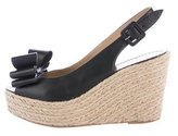 Valentino Rockstud Bow-Accented Espadrilles