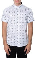 7 Diamonds Men's 'Casual Party' Short Sleeve Woven Shirt