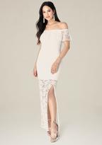 Bebe Amelia Lace Maxi Dress
