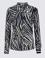 Marks and Spencer Animal Print Long Sleeve Shirt