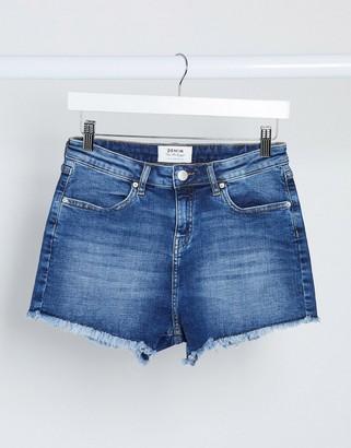 Miss Selfridge denim shorts in mid wash