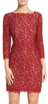 Adrianna Papell Petite Women's Lace Overlay Sheath Dress