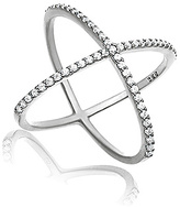 Bliss Cubic Zirconia & Sterling Silver X Ring