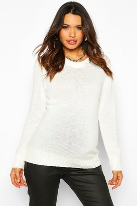 boohoo Maternity Crew Neck Sweater