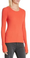 Rebecca Taylor Women's Rib Knit Scoop Neck Sweater