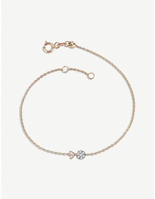 The Alkemistry Kismet by Milka 14ct rose-gold and diamond Aquarius bracelet