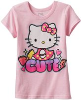 "Hello Kitty Girls 4-7 Cute"" Graphic Tee"