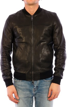 Dolce & Gabbana Leather Bomber Black